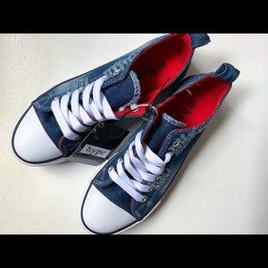 NWT Denim Sneakers